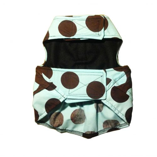 brown polka dot dress - back