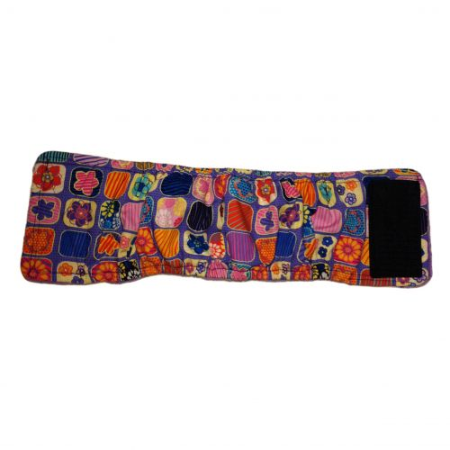 flower window on purple belly band – full