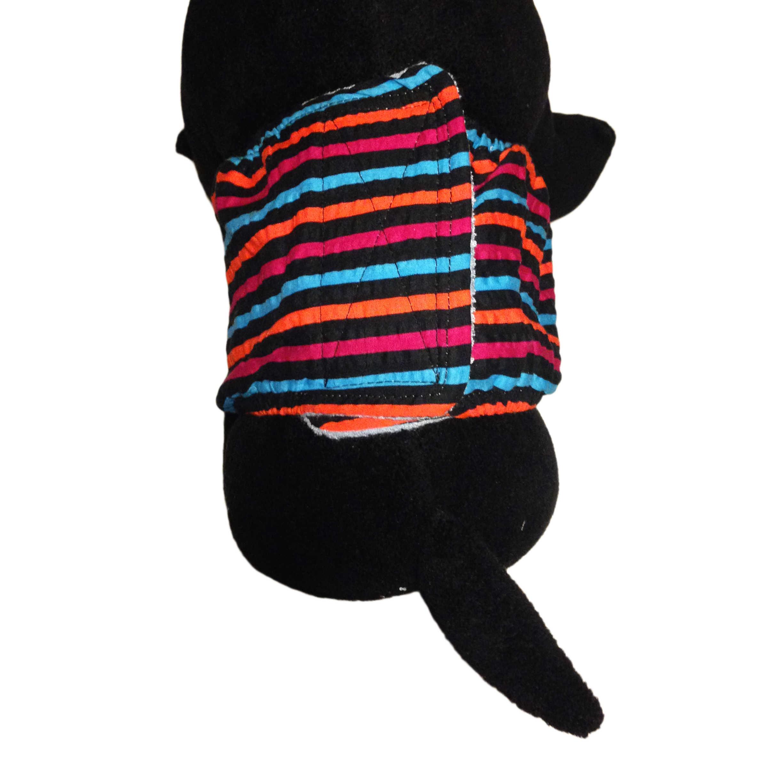 f61fc1344 Barkertime Stripes on Black Washable Dog Belly Band Male Wrap