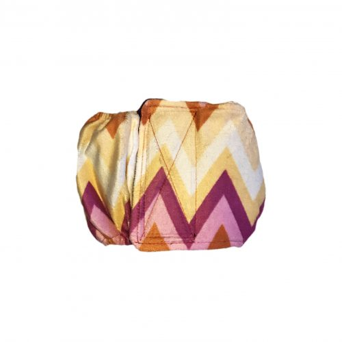 orange and yellow chevron minky belly band