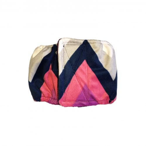 pink and blue chevron minky belly band
