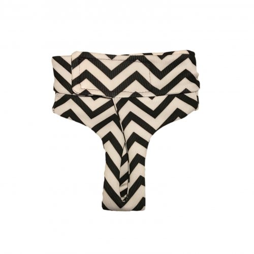 black chevron on white diaper pullup