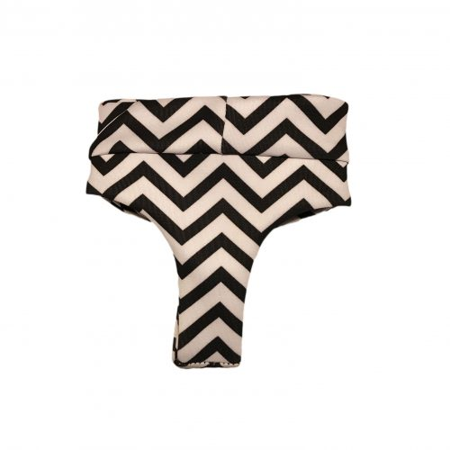 black chevron on white diaper pullup – back