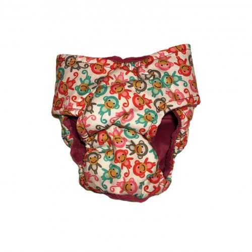 mini happy monkey diaper - back