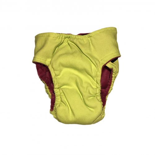 neon green diaper - back