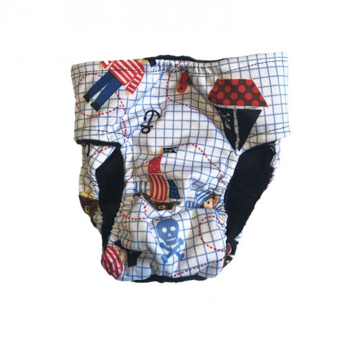 pirate and skull pul diaper - back