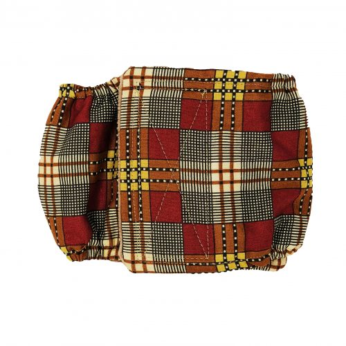 brown and red plaid belly band