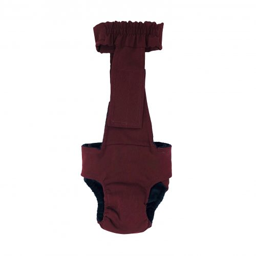 burgundy diaper overall - new - back