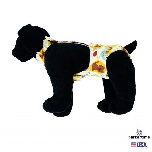 doggie with bones on cream diaper overall – new – model 1