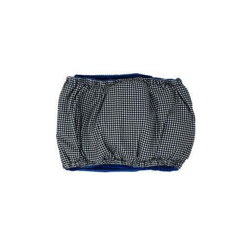 black and white gingham belly band - back