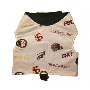 Dog Harness made from Florida State Seminoles fabric