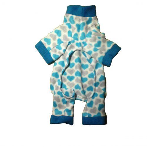 chevron heart pajama - front