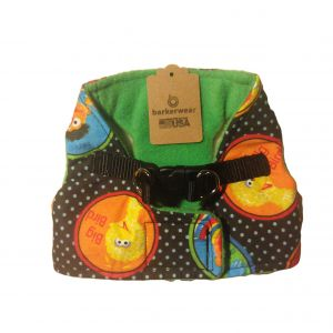 Dog Walk-in Harness made from Sesame Street fabric