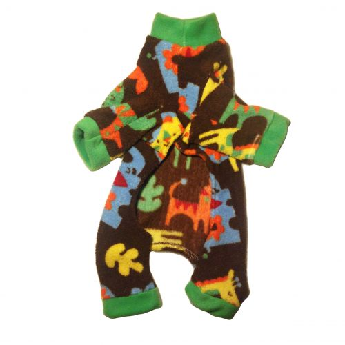 zoo animal pajama - back