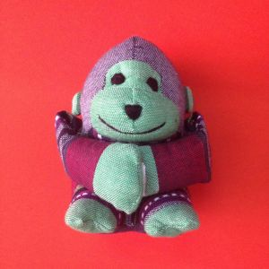 Stuffed Swinging Monkey – Unique Handmade Toy