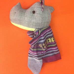 Rhino Hand Puppet – Unique Handmade Toy