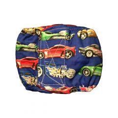 Washable Dog Belly Band Male Wrap made from Hot Wheels fabric