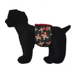 Crossbones Pirate Washable Dog Belly Band Male Wrap
