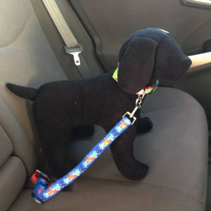 Adjustable Car Safety Belt for Dogs made from Finding Nemo fabric