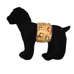 Happy Monkey and Bananas Washable Dog Belly Band Male Wrap