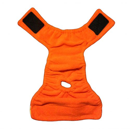 orange diaper backing