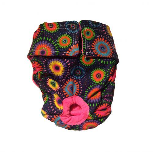paisley flower diaper