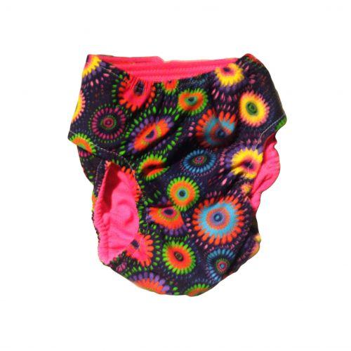 paisley flower diaper - back