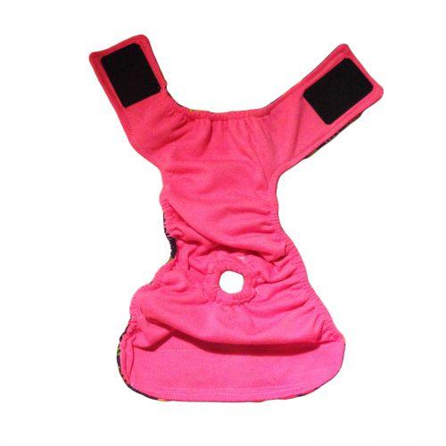 paisley flower diaper - full back