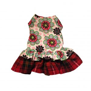 Passion Flower Dress with London Plaid Ruffles