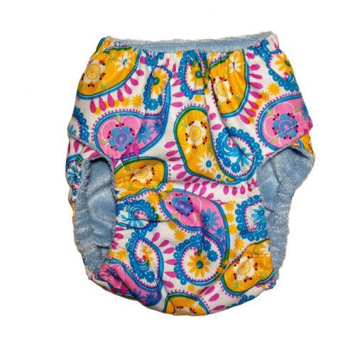 pastel paisley diaper - back