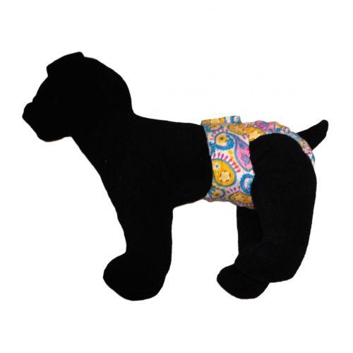 pastel paisley diaper - model 1