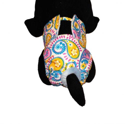 pastel paisley diaper - model 2