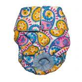 Pastel Paisley Washable Cat Diaper