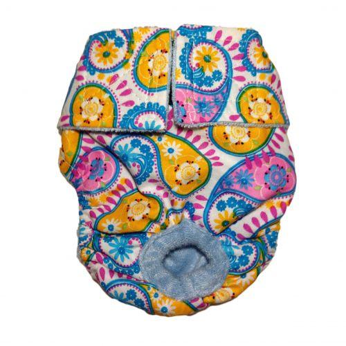 pastel paisley diaper
