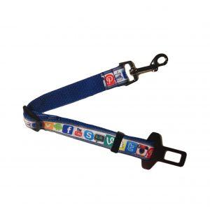 Social Media Adjustable Car Safety Belt for Dogs