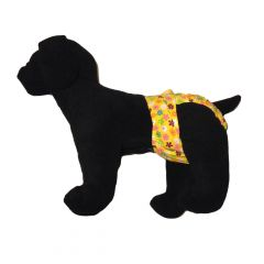 Spring Yellow Blossom Washable Dog Diaper