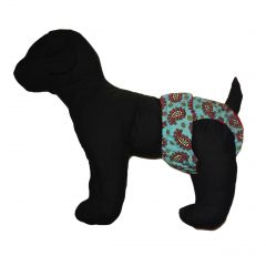 Teal Paisley Washable Dog Diaper