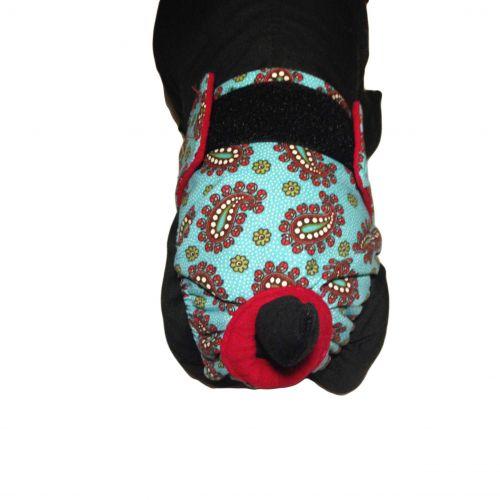 teal paisley 2 diaper - model 2