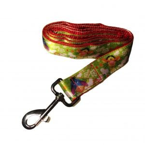 Dog Leash made from Winnie the Pooh fabric