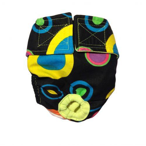 color neon polka dot diaper