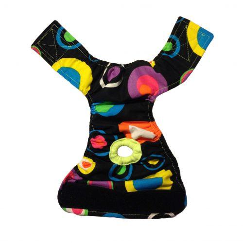 color neon polka dot diaper - full