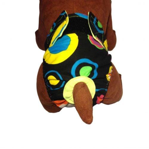 color neon polka dot diaper - model 2