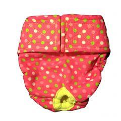 Pink Neon Polka Washable Dog Diaper