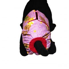 Washable Cat Diaper made from Teddy Bear fabric