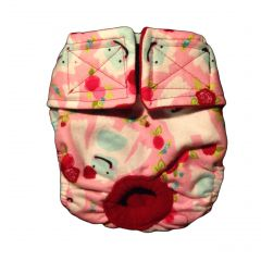 Washable Cat Diaper made from Betty the Yeti Spring Roses fabric