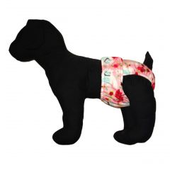 Washable Dog Diaper made from Betty the Yeti Spring Roses Fabric