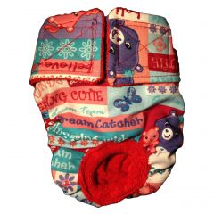 Washable Dog Diaper made from Care Bear fabric