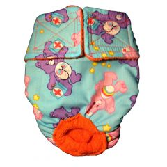 Washable Cat Diaper made from Care Bear fabric