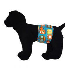 Choo Choo Train Washable Dog Belly Band Male Wrap