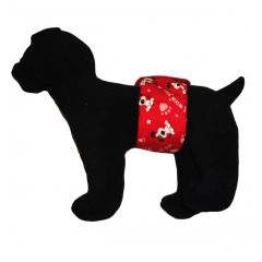 LIMITED EDITION: I Woof You Washable Dog Belly Band Male Wrap